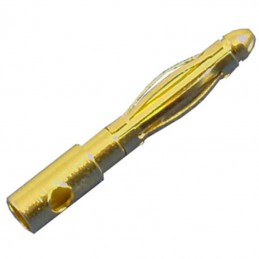 CONECTOR ORO 2MM MACHO