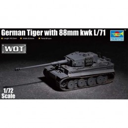 1:72 GERMAN TIGER WITH 88MM...