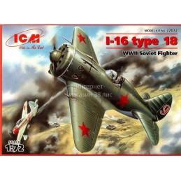 1:72 I-16 TYPE 18 WWII...