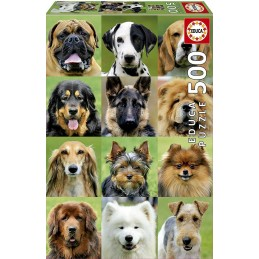 PUZZLE 500 DOGS COLLAGE