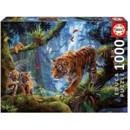 PUZZLE 1000 TIGRES EN EL ARBOL