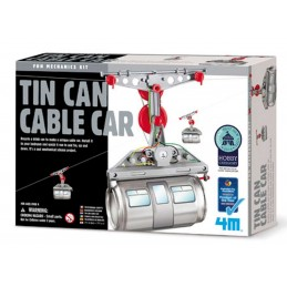 4M GREEN TIN CAN CABLE CAR