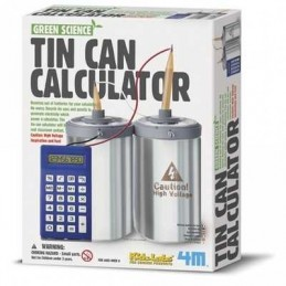 4M GREEN TIN CAN CALCULATOR