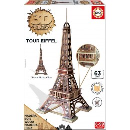 PUZZLE 3D MADERA TORRE EIFFEL