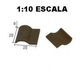 TEJA ROMANA NEGRA 100 Unidades