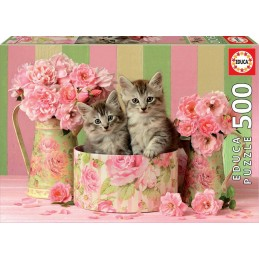 PUZZLE 500 TWO KITTENS WITH...