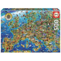 PUZZLE 500 EUROPE MAP