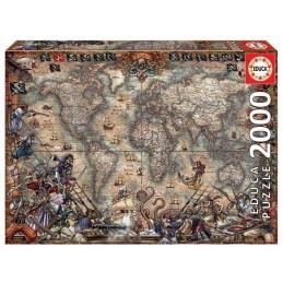 PUZZLE 2000 PIRATES MAP