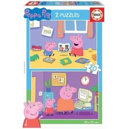 PUZZLE 2X20 PEPPA PIG