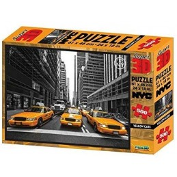 PUZZLE 3D YELLOW CABS 500...