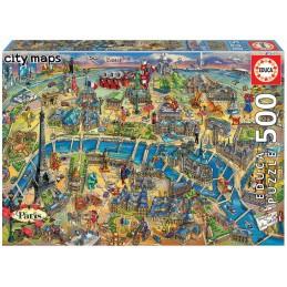 PUZZLE 500 MAPA DE PARIS