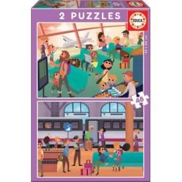PUZZLE 2X48 AEROPUERTO + TREN