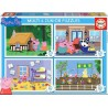 PUZZLE MULTI 4 JUNIOR PEPPA PIG