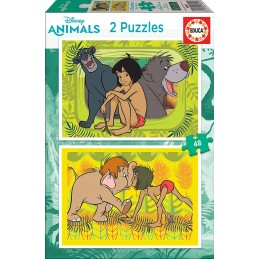 PUZZLE 2X48 JUNGLE BOOK