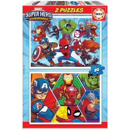 PUZZLE 2X20 MARVEL SUPER...