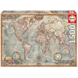 PUZZLE 1500 EL MUNDO MAPA...