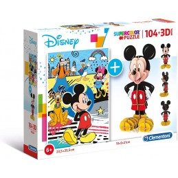 PUZZLE 104 + 3D MICKEY MOUSE