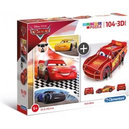 PUZZLE 104 + 3D CARS