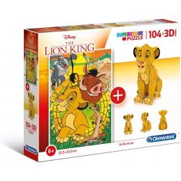 PUZZLE 104 + 3D LION KING
