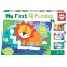 PUZZLE ANIMALES SELVA MY FIRST 4 PUZZLES